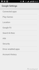 Google settings