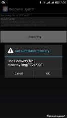 Gunakan mobile uncle untuk flash custom recovery